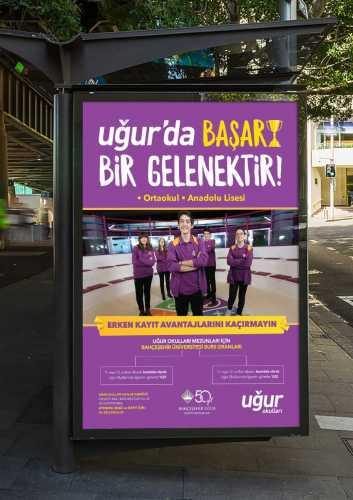 uğur okulları bilboard tasarımı broşür uğur okulları broşür billboard a5 baskı eğitim kurumu broşür baskı