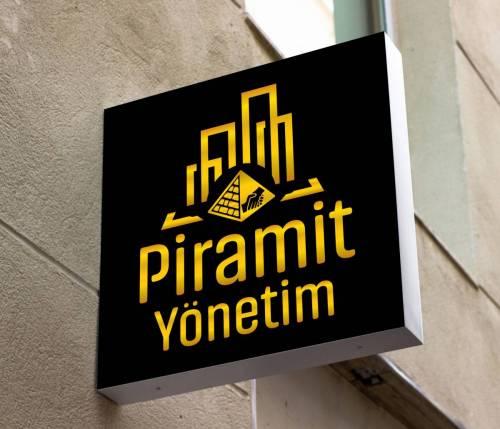 piramit yönetim logo tasarımı