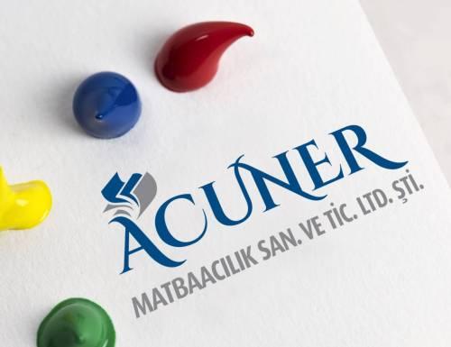 acuner matbaa logo tasarımı