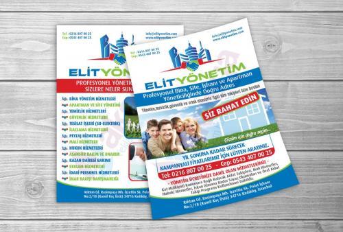 elit_yonetim a5 broşür tasarımı